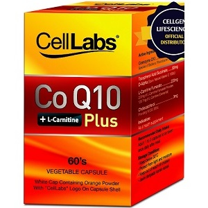 Cellabs CoQ10 + L-Carnitine Plus for Health & Well-Being