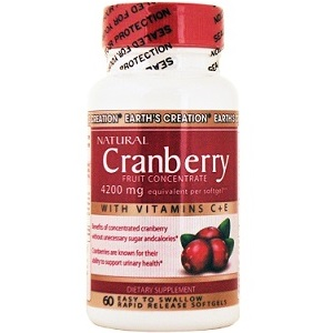 Earth Creations Natural Cranberry for Urinary Tract Infection