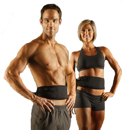 man and woman using contour abs