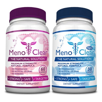 menoclear bottles day and night formula for menopause