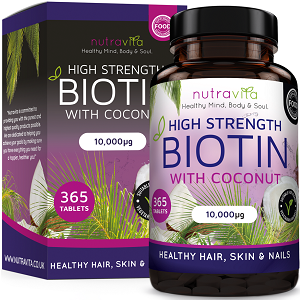 Nutra Vita High Strength Biotin With Coconut for Hair Growth