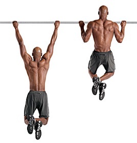 photo of man pull up