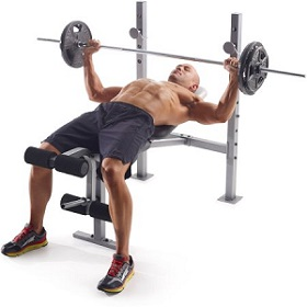 photo of man weight lifting